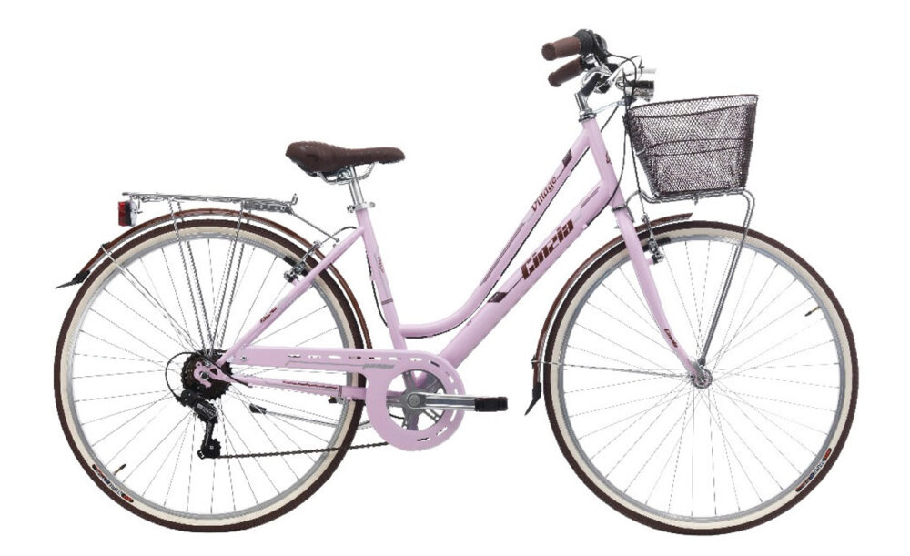 "CINZIA 28"" CTB VILLAGE LADY 6B V-BRAKE MATT ROSE"