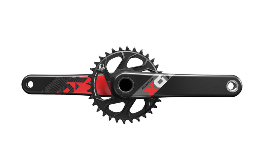 Pogon Sram X01 EAGLE GXP 175 32T DIRECT MOUNT Red